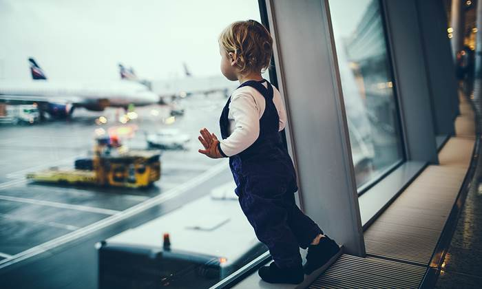 Child at the airport